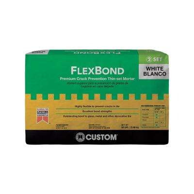 FlexBond White 50 lb. Crack Prevention Mortar