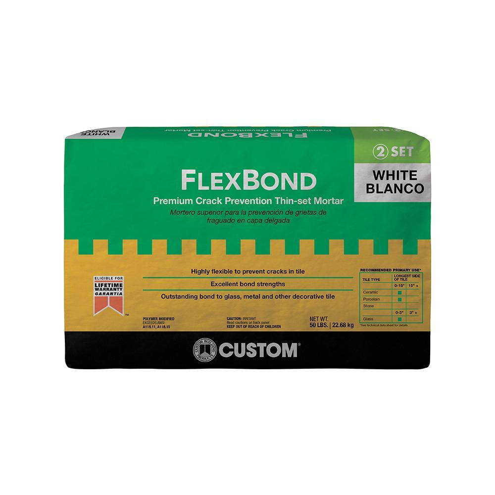 FlexBond White 50 lbs. Crack Prevention Mortar