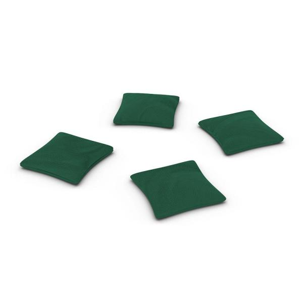 Official ACA Sized Hunter Green Corn-filled Duck Cloth Cornhole Bags (4-Set)