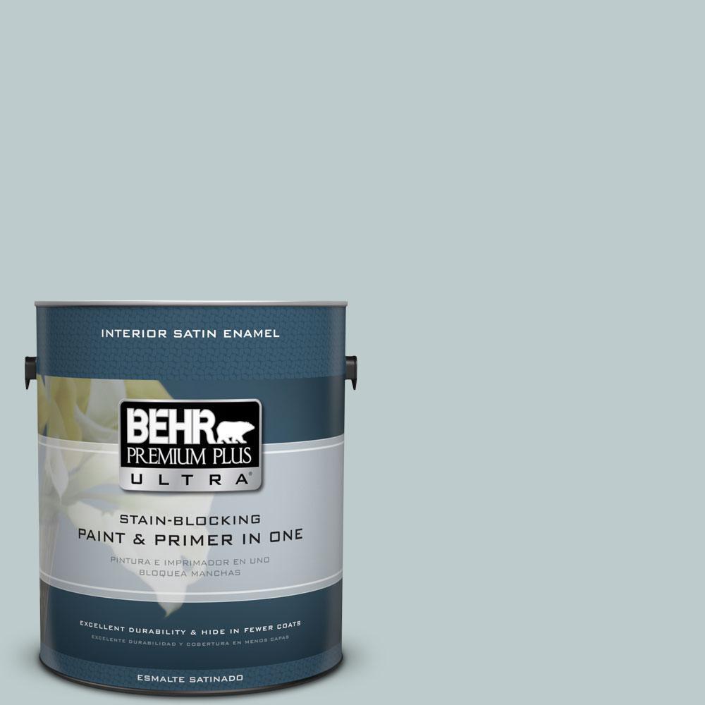 BEHR Premium Plus Ultra 1-gal. #N440-2 Urban Raincoat Satin Enamel Interior Paint