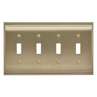 Candler 4-Toggle Wall Plate, Golden Champagne