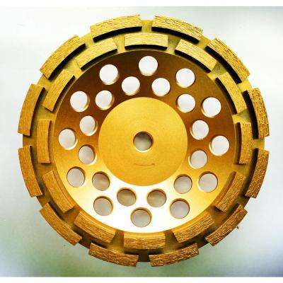 7 in. Double Row Diamond Grinding Cup Wheel for Concrete and Mortar