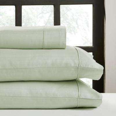 Misty Jade T500 Solid Combed Cotton Sateen King Sheet Set