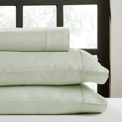 Hotel Concepts 4-Piece Misty Jade Solid 700 Thread Count Cotton Queen Sheet Set
