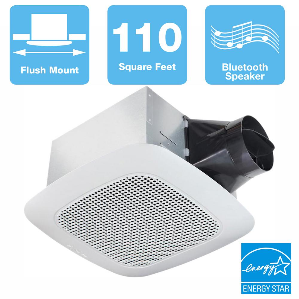 Delta Breez Signature Series 110 CFM Ceiling Bathroom Exhaust Fan with  Bluetooth Speaker, ENERGY STAR