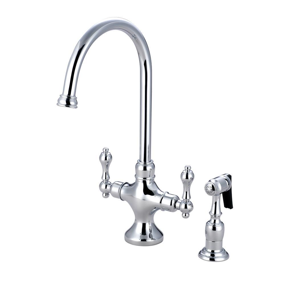 Vintage 2-Handle Standard Kitchen Faucet in Chrome