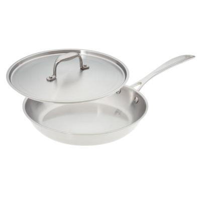 10 in. Premium Stainless Steel Skillet with Cover