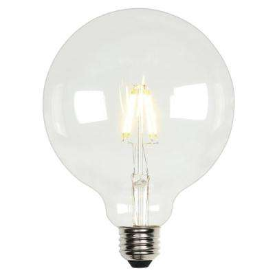 60-Watt Equivalent G40 Dimmable Clear Filament LED Light Bulb Soft White