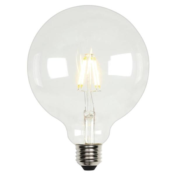 Westinghouse 60 Watt Equivalent G40 Dimmable Clear Filament Led Light Bulb Soft White 4317500 The Home Depot