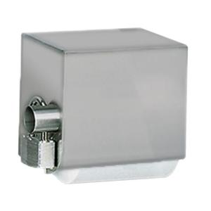 Stainless Solutions Double Post Covered Toilet Paper Holder in Steel with...