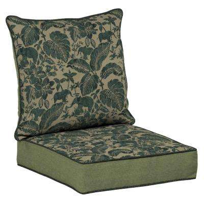 Casablanca Elephant 2-Piece Deep Seating Outdoor Lounge Chair Cushion