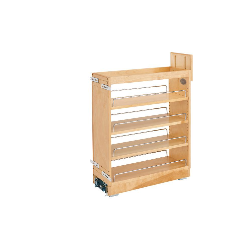 Rev-A-Shelf 25.5 in. H x 8 in. W x 21.75 in. D Pull-Out Wood Base Cabinet Organizer with Ball-Bearing Soft-Close Slides