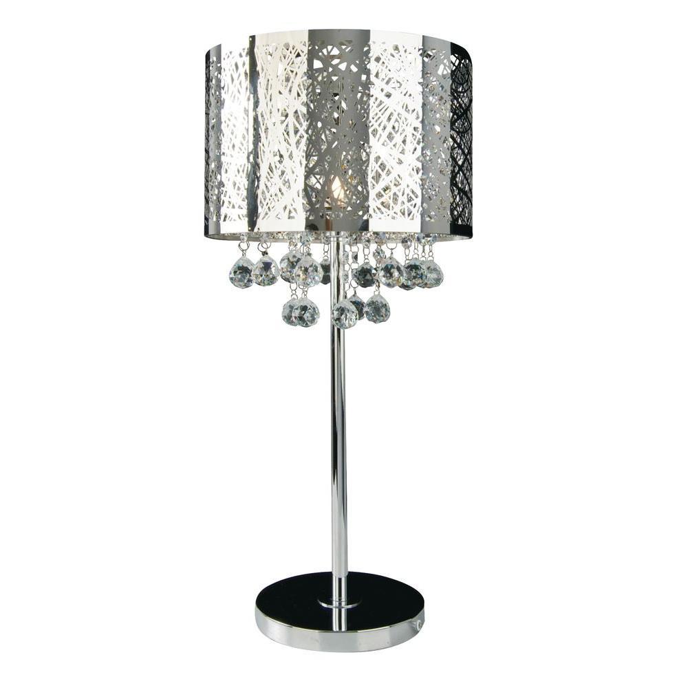 Xavier 25.6 in. Chrome Table Lamp