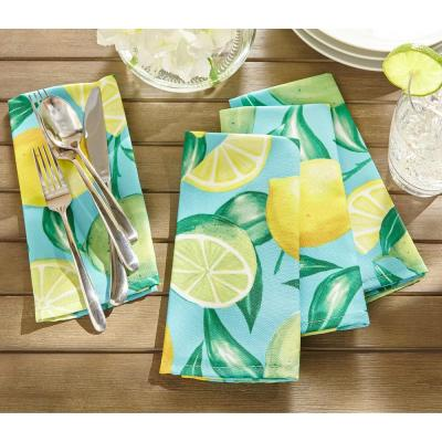 17 in. W x 17 in. L Lemon Grove Stain Resistant Indoor Outdoor Napkins (Set of 8)