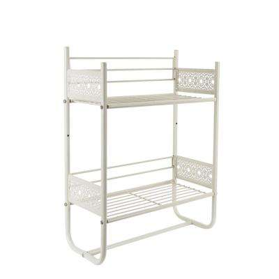 Filigree Bathroom Collection Wall Shelf in White