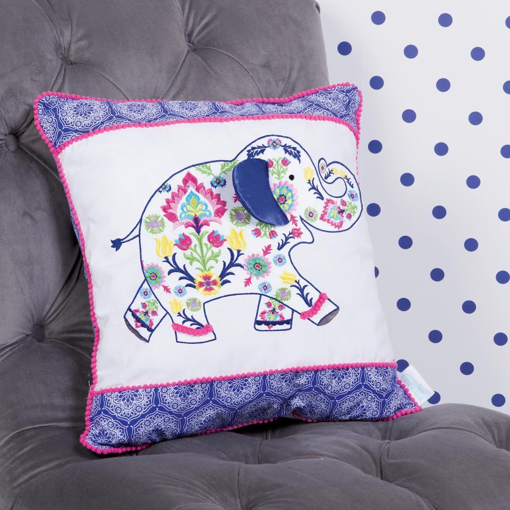 Trend Lab Waverly Santa Maria Henna Elephant Decorative Pillow 71177