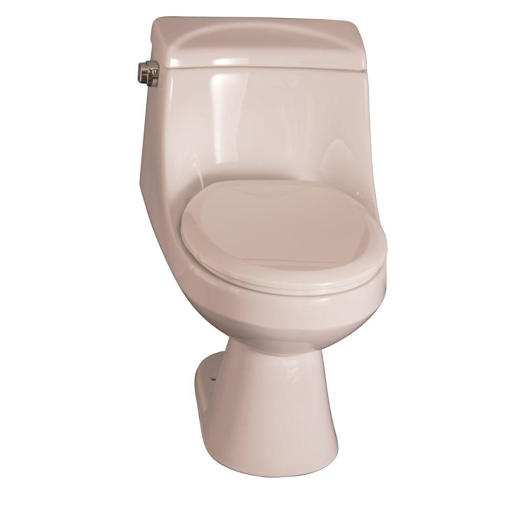 Pegasus Vogue 1-piece 1.6 GPF Round Front Water Closet Toilet in Bisque