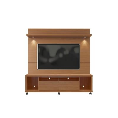 Cabrini 71 in. Off-White Engineered Wood Entertainment Center with 2 Drawer Fits TVs Up to 60 in. with Wall Panel