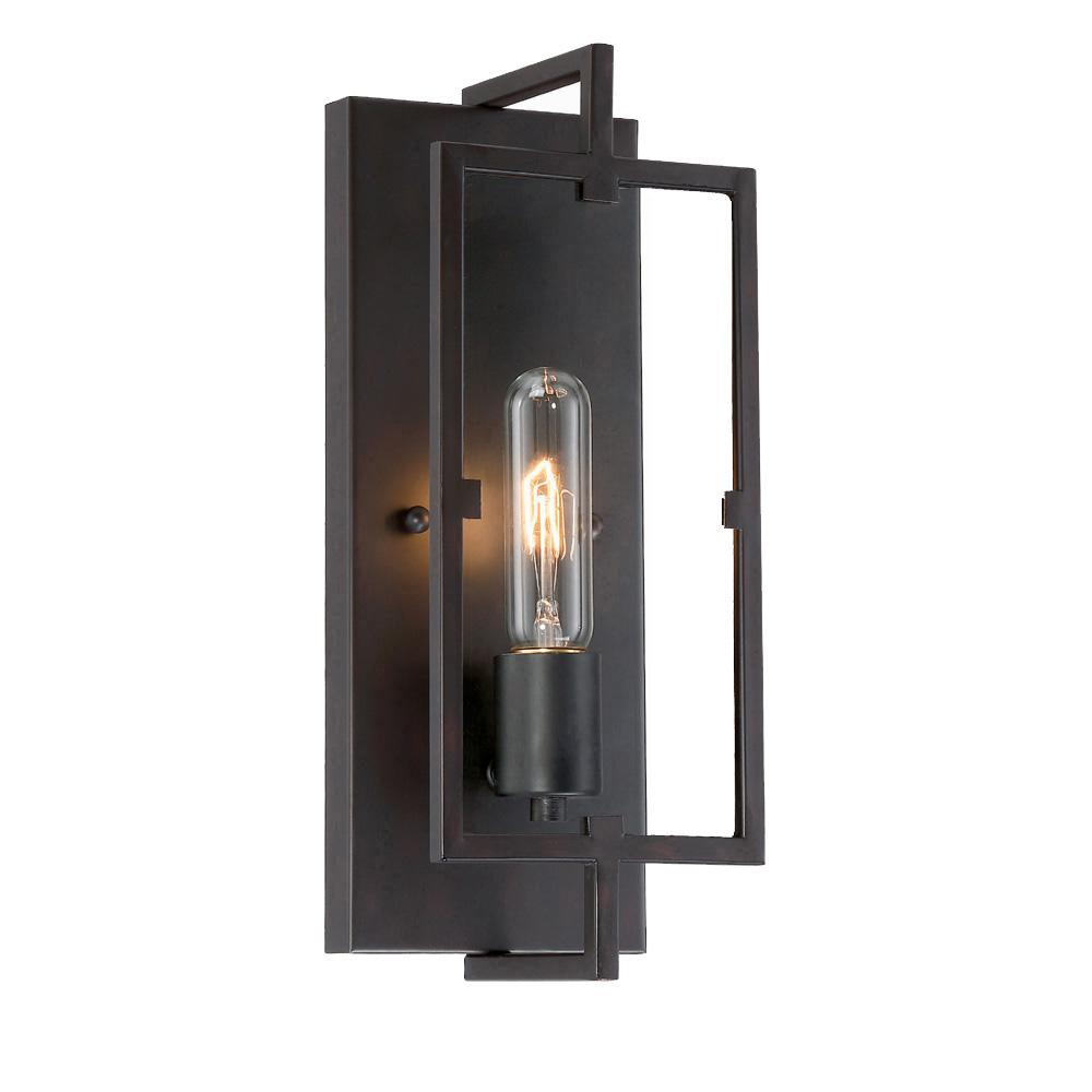 Sconces lighting the home depot 1 light vintage bronze wall sconce aloadofball Choice Image