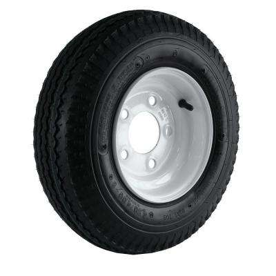 480/400-8 Load Range B 5-Hole Trailer Tire and Wheel Assembly
