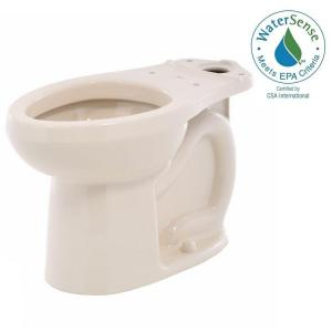 American Standard H2Option Siphonic Dual Flush Chair Height Elongated Toilet Bowl Only in Bone by American Standard