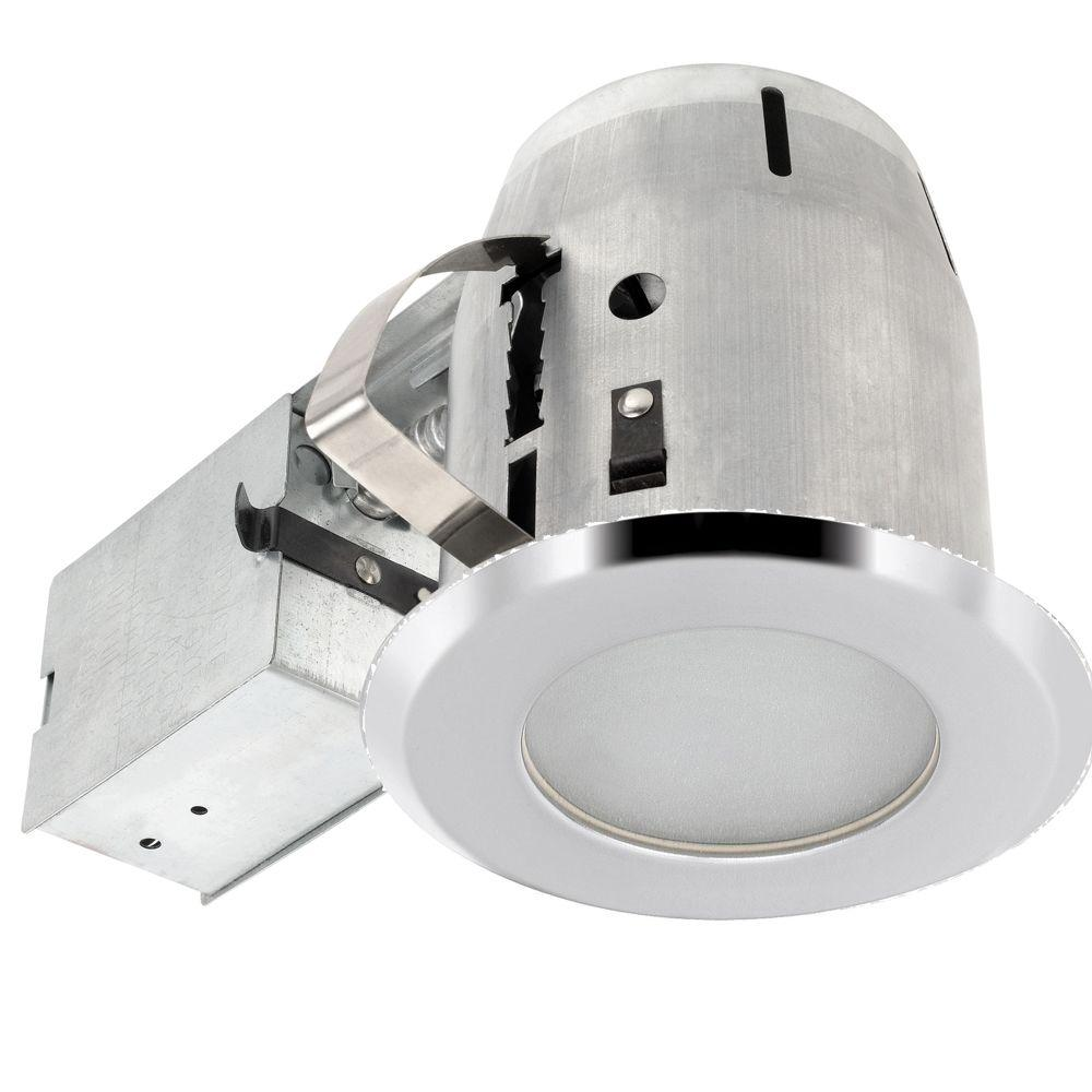 Globe Electric 4 in. Chrome Recessed Shower Lighting Kit