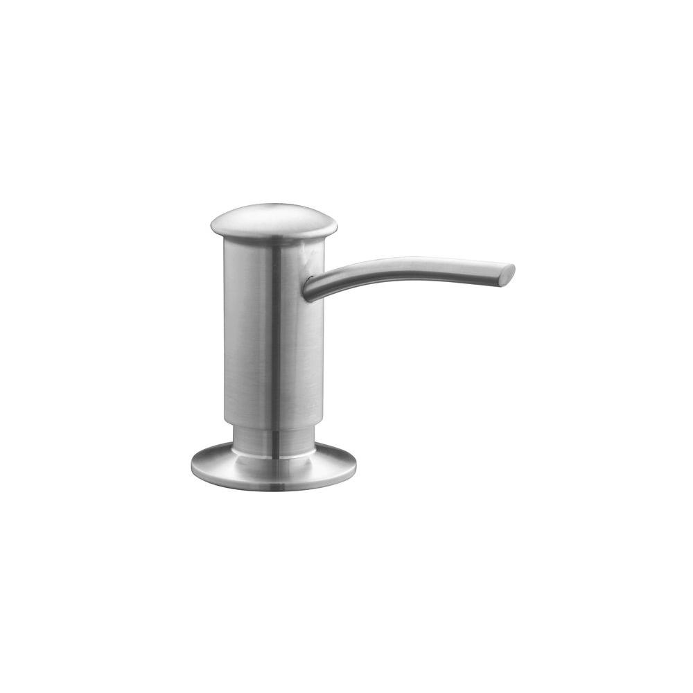 Single-Hole Soap/Lotion Dispenser with Contemporary Design in Vibrant Stainless