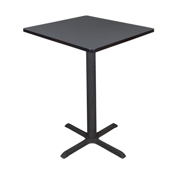 Regency Cain Grey 30 in. Square Cafe Table TCB3030GY