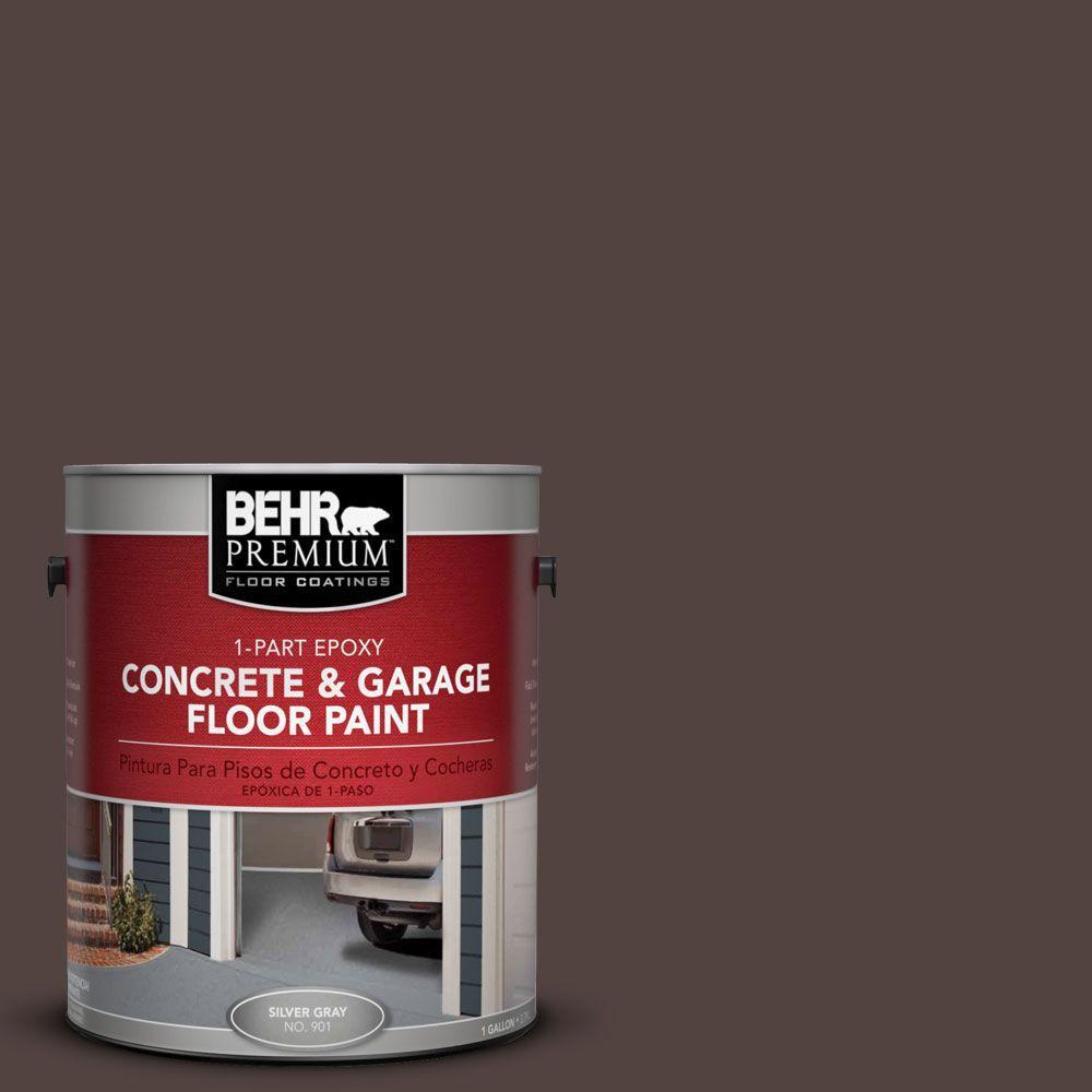 BEHR Premium 1 gal. #PFC-25 Dark Walnut 1-Part Epoxy Concrete and Garage Floor Paint