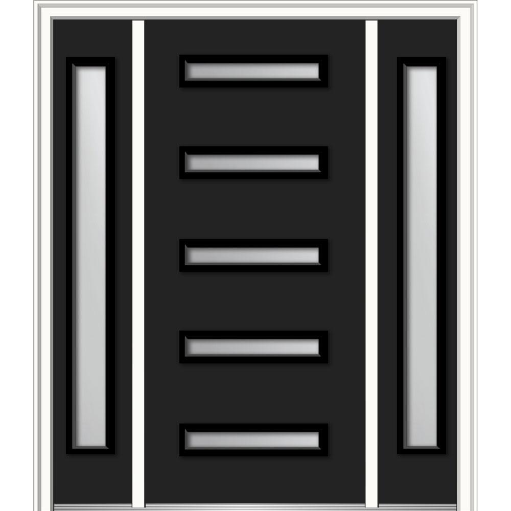 Mmi door 60 in x 80 in aveline frosted glass left hand 3 for Home depot frosted glass door
