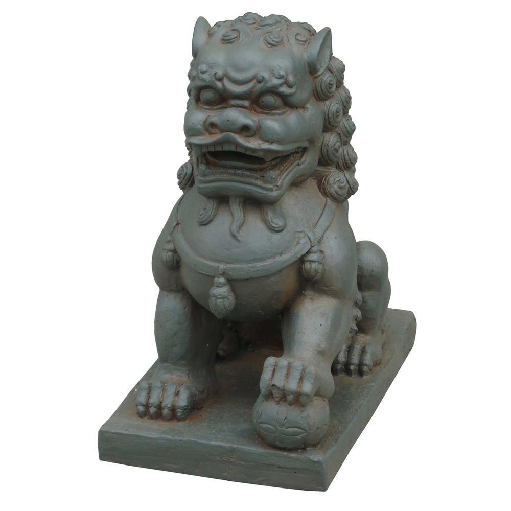 Foo Dog left Paw on Ball Statue