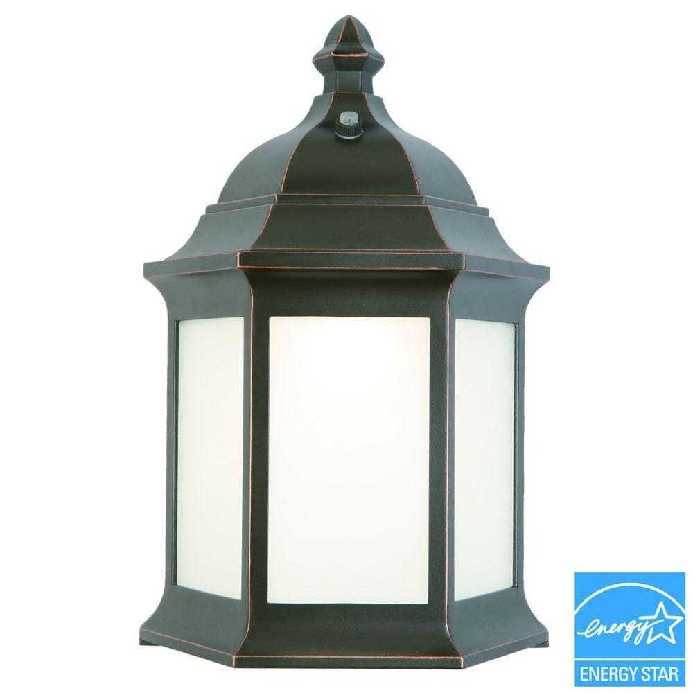 Hampton Bay Outdoor Oil-Rubbed Bronze LED Wall Lantern
