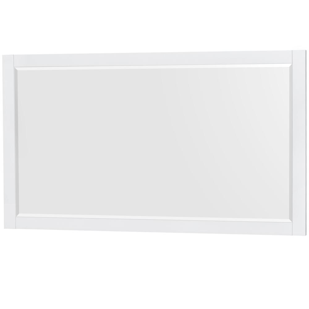 Wyndham Collection Amare 58 in. W x 33 in. H Framed Wall Mirror in White