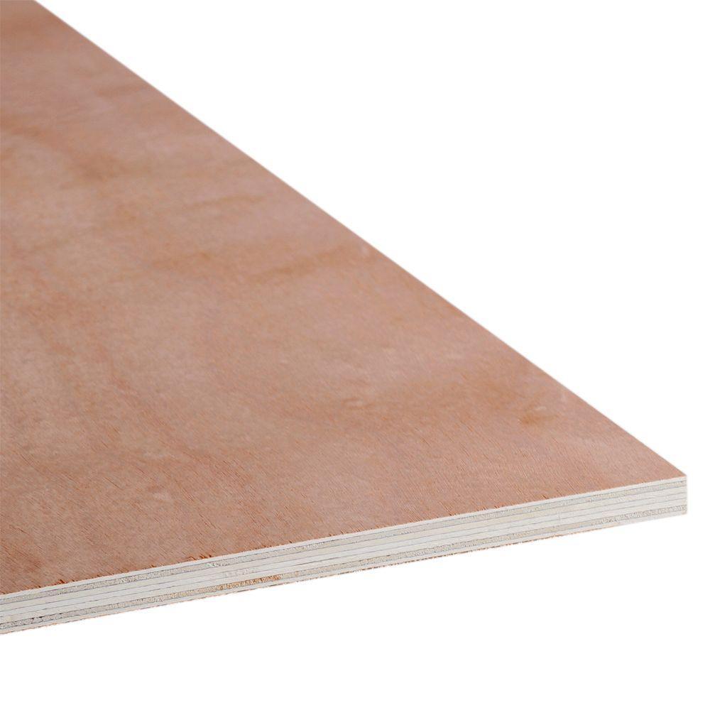 3/4 in. x 4 ft. x 2 ft. Okoume Plywood