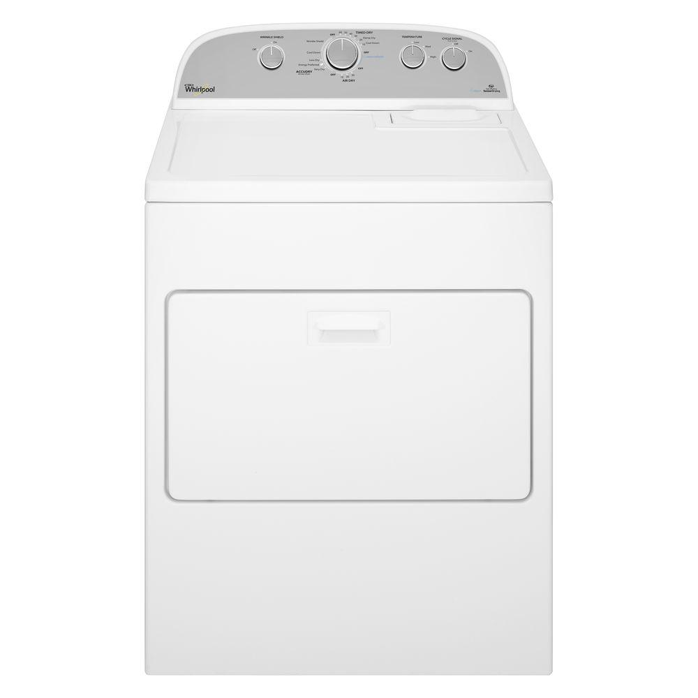 7.0 cu. ft. 120-Volt White Gas Vented Dryer with AccuDry, Steam