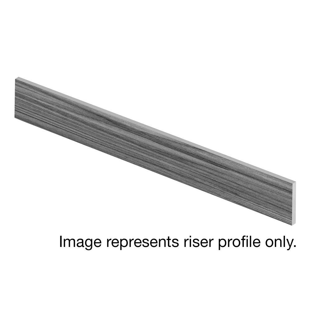 Cap A Tread Blue Slate 94 in. Long x 1/2 in. Deep x 7-3/8 in. Height Vinyl Riser to be Used with Cap A Tread