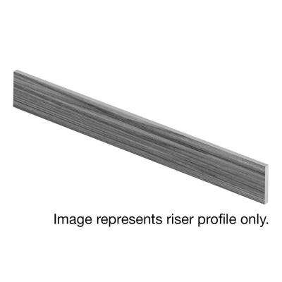 Light Carrara 47 in. Length x 1/2 in. Deep x 7-3/8 in. Height Vinyl Overlay Riser to be Used with Cap A Tread