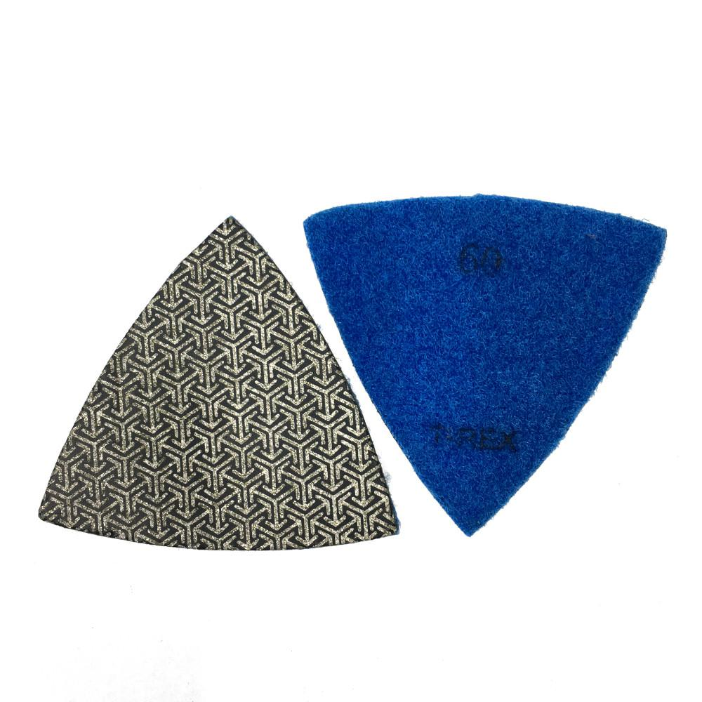 T-REX 3 in  60-Grit Triangle Shaped Diamond Polishing Pad