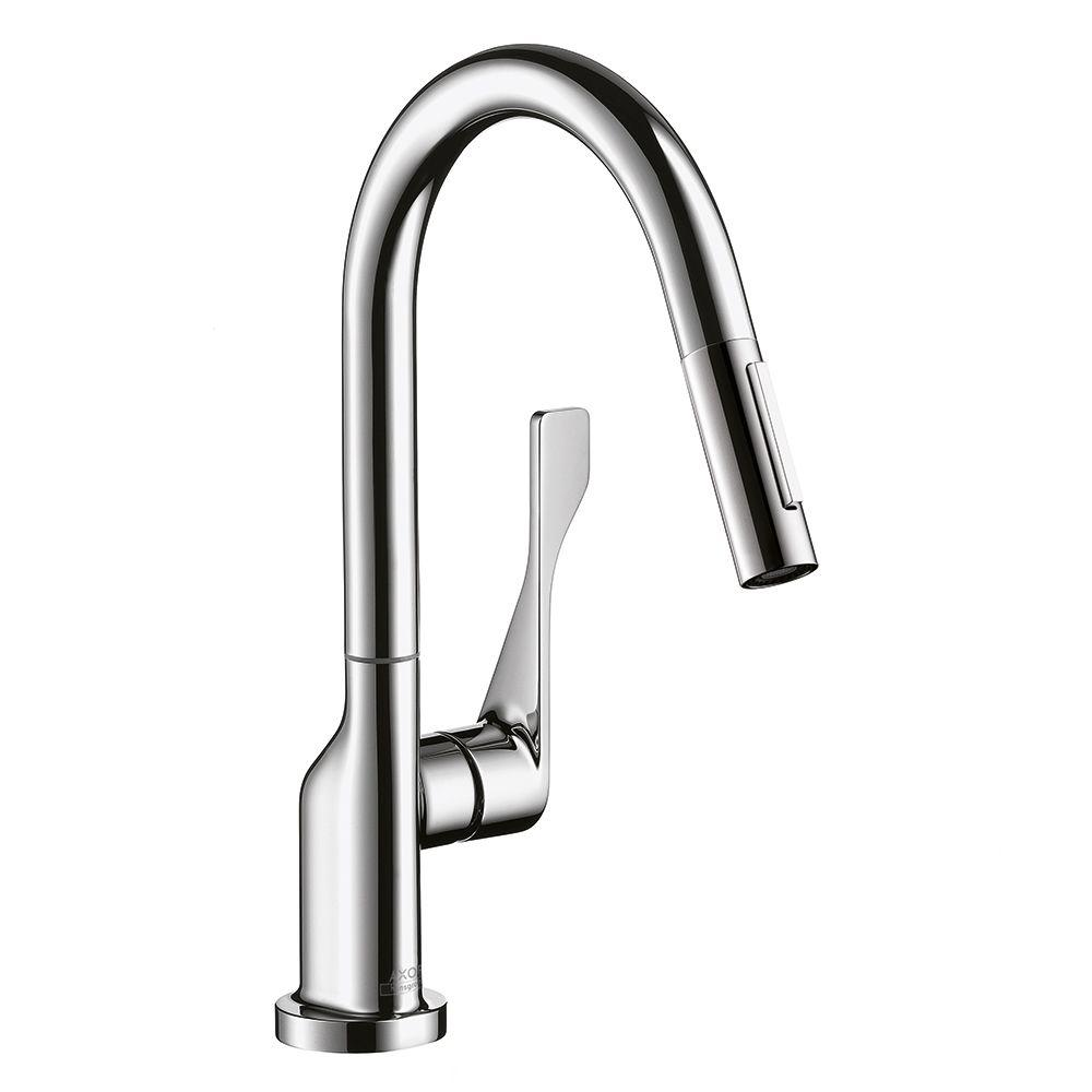 Hansgrohe Axor Citterio Prep Single-Handle Pull-Down Sprayer Kitchen Faucet in Chrome
