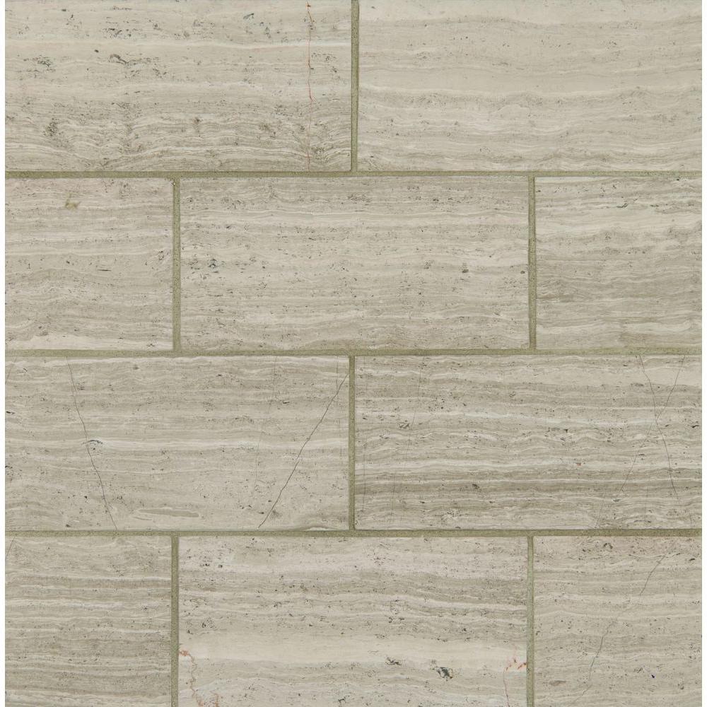 Msi White Oak 12 In X 24 In Polished Limestone Floor And