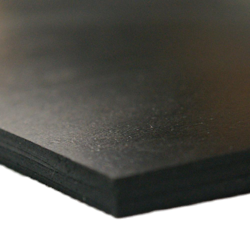 24 Length Sheet 60 Shore A SBR Smooth Finish 12 Width No Backing Styrene Butadiene Rubber 0.187 Thickness Black