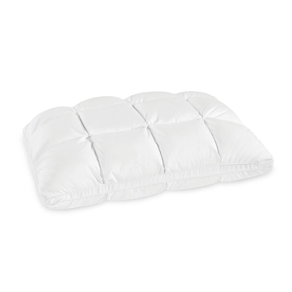 Synthetic Down and Memory Foam Baffle Box Standard Pillow