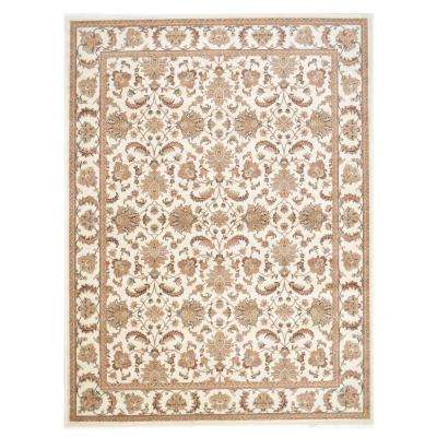 Kashan Allover Ivory 7 ft. 10 in. x 10 ft. 2 in. Area Rug