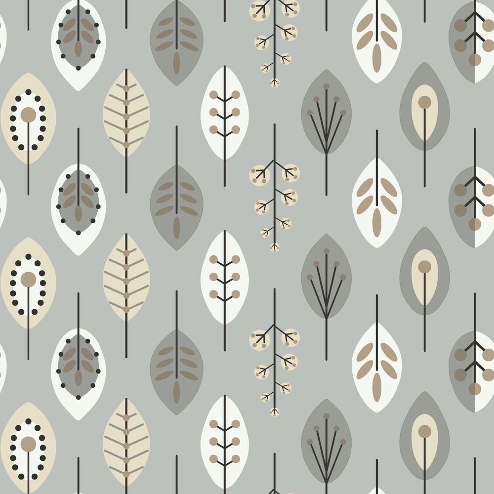 Bistro 750 Retro Leaves Wallpaper
