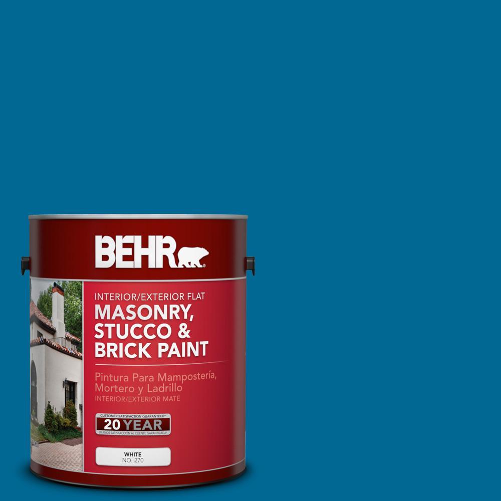 1 gal. #OSHA-1 OSHA SAFETY BLUE Flat Interior/Exterior Masonry, Stucco and Brick Paint