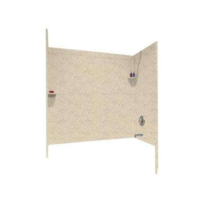 33-1/2 in. x 60 in. x 60 in. 3-Piece Easy Up Adhesive Tub Wall in Tahiti Desert