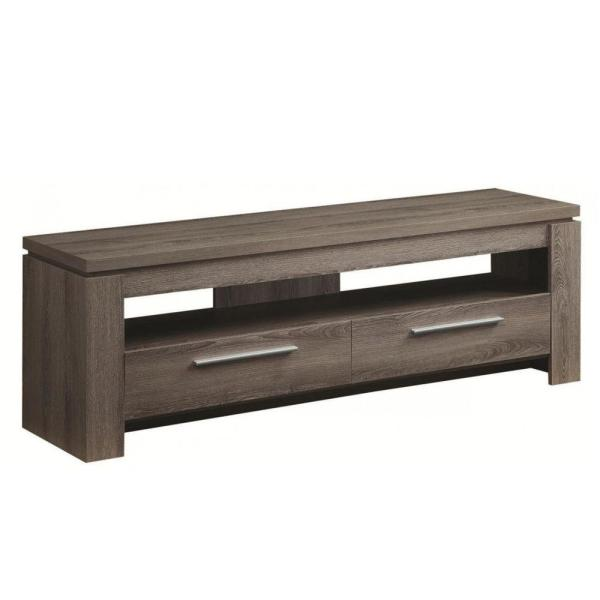 Fine Looking Weathered Gray TV console
