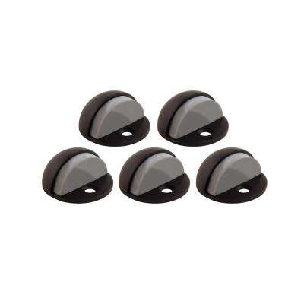 Oil Rubbed Bronze Floor Mount Dome Door Stop Value Pack (5 per Pack)