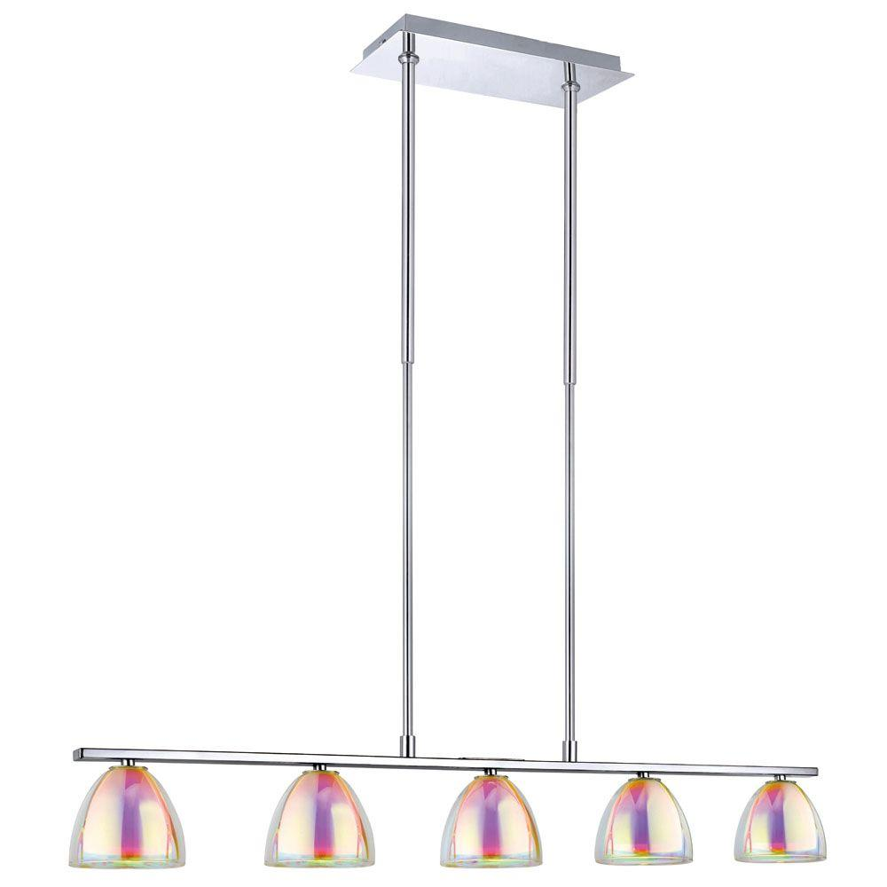 Eglo Acento 5-Light 40-Watt Hanging Chrome Trestle Light