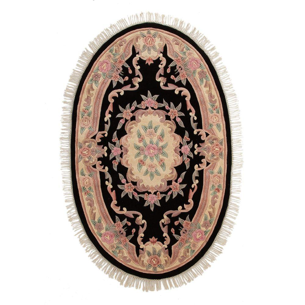 Home Decorators Collection Imperial Black 3 ft. x 5 ft. Oval Area Rug